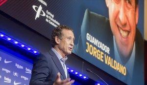 Valdano rep el premi Vázquez Montalbán