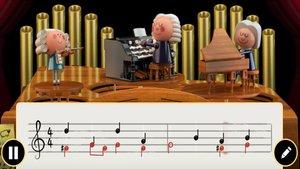Johann Sebastian Bach, en el doodle de Google.