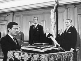 El 5 de julio de 1976 Suárez juró como presidente del Gobierno en la Zarzuela.