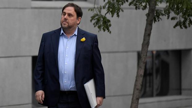 Lexvicepresident i exconseller dEconomiade la Generalitat Oriol Junqueras, el 2 de novembre, dia en què va anar a declarar a lAudiència Nacional