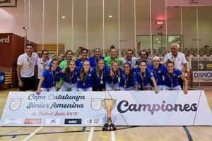 Las jugadoras de la AE Penya Esplugues.