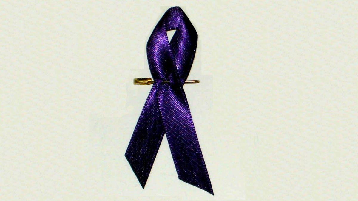 Un lazo lila, símbolo de la reivindicación de los derechos de las mujeres.