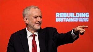 El líder del Partido Laborista, Jeremy Corbyn, durante la Conferencia Anual del Partido Laborista, en Liverpool.