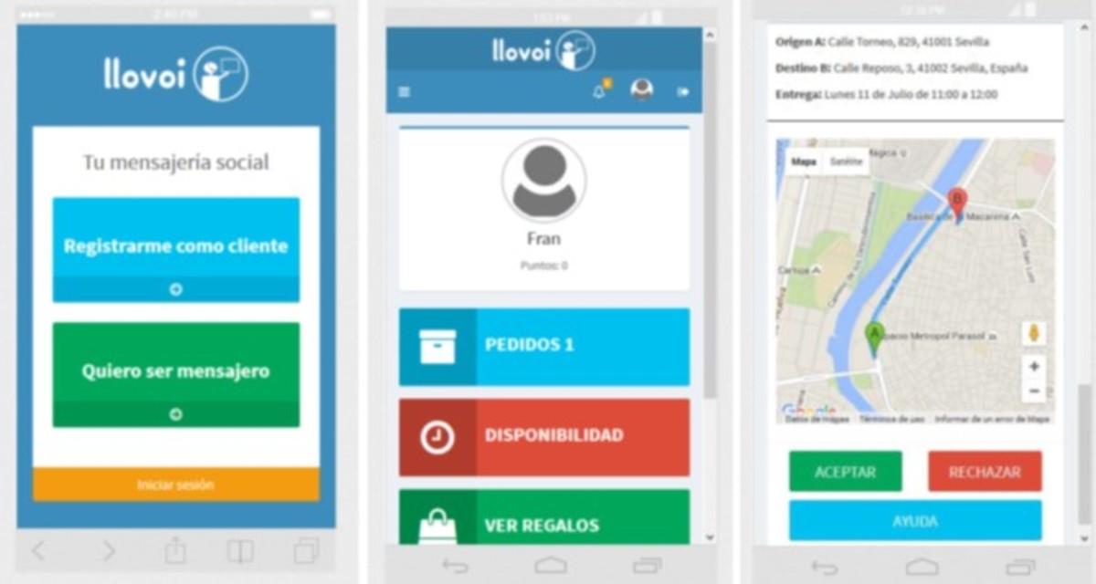 Llovoi: app ganadora del concurso de participación ciudadana #GoAppSevilla