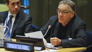 Robert de Niro, el pasado lunes en la ONU.
