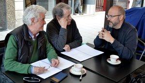 Víctor Matellano (derecha), junto a los actores Guillermo Montesinos y José Manuel Cervino.
