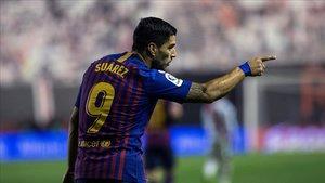 Luis Suárez lleva seisgoles en tres jornadas.