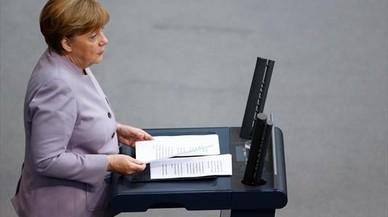 Merkel apuesta por Macron como nuevo presidente de Francia