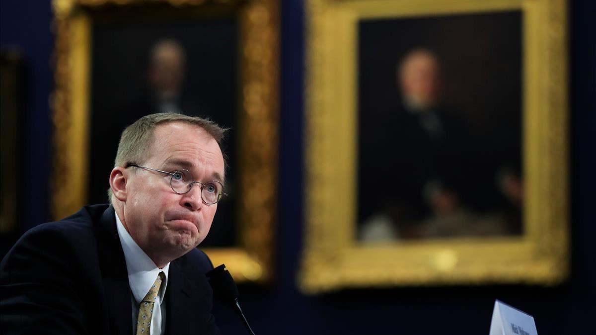 El controvertido jefe de la Oficinade Presupuesto de EEUU,Mick Mulvaney.