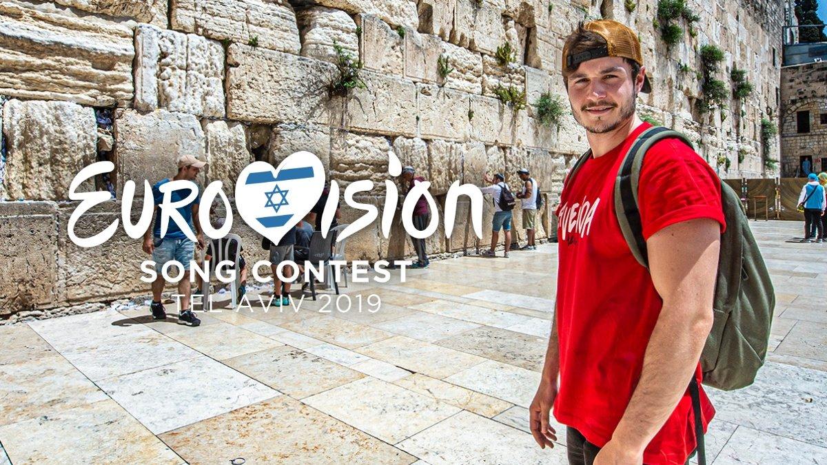 Miki durante su visita a Jerusalén.