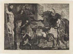 'La minotauromaquia'(1935), uno de los mejores gabados de Picasso y del siglo XX.