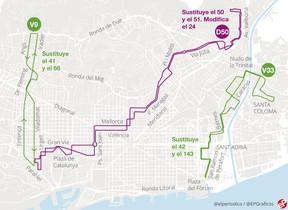 Entran en funcionamiento tres nuevas líneas de bus en BCN