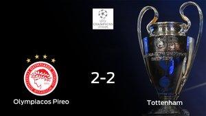 El Olympiakos Piraeus y el Tottenham Hotspur empatan y suman un punto a su casillero (2-2)