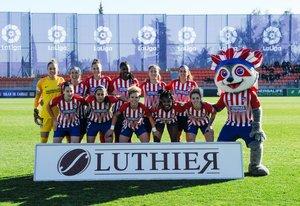 El once inicial del Atlético en Las Gaunas.