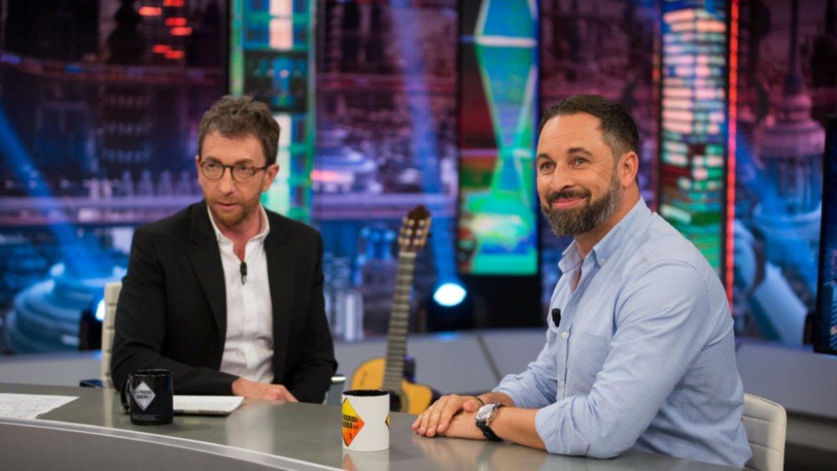 Pablo Motos y Santiago Abascal en 'El hormiguero'.