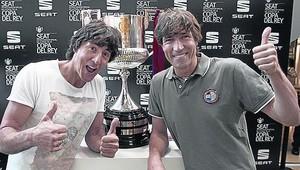 Patxi y Julio Salinas, en Bilbao.