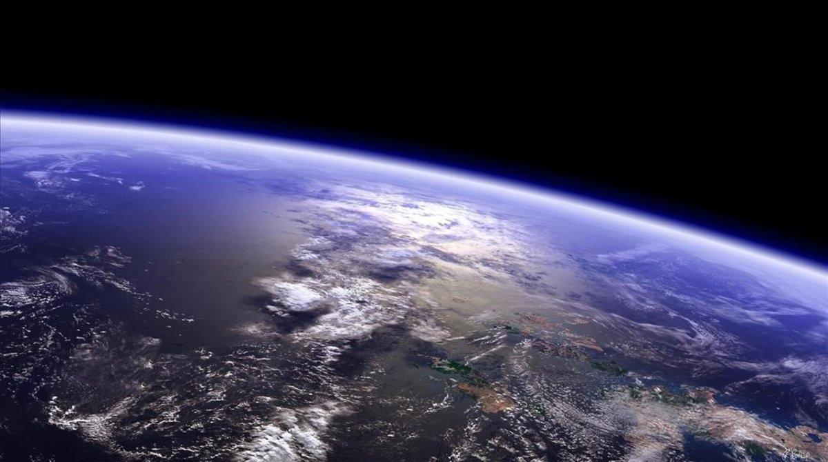 El planeta Tierra desde el espacio.