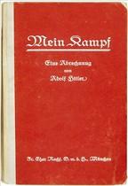 Portada de un ejemplar de Mein Kampf subastado en Bloomsbury el pasado junio.