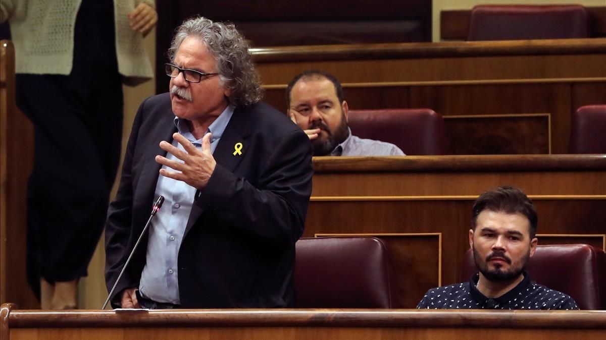 El portavoz de ERC, Joan Tardà, dirigiéndose al presidente del Gobierno.