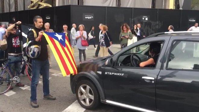 Concentración por la sentencia en la Av.Diagonal con Pº de Gràcia.