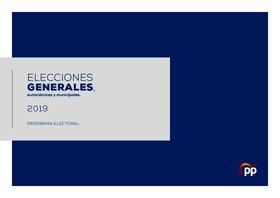 Programa electoral del PP para las elecciones generales 2019