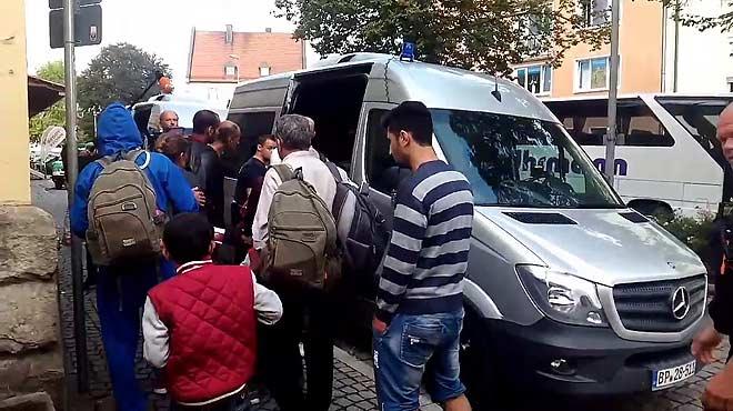 Refugiados en Passau, en la frontera entre Alemania y Austria.