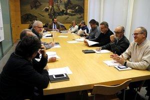 Reunión del jurado del concurso de ideas para el centro de Mataró, el 12 de diciembre de 2018.