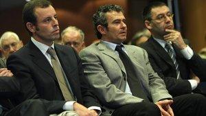 Rosell, Masferrer y Bartomeu.
