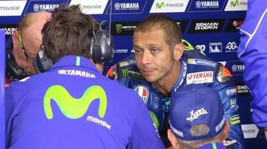 Rossi es trenca la tíbia i el peroné dret entrenant-se