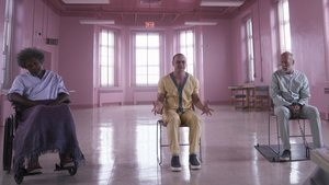 Samuel L. Jackson, James McAvoy y Bruce Willis, en un fotograma de Glass, de M. Night Shyamalan