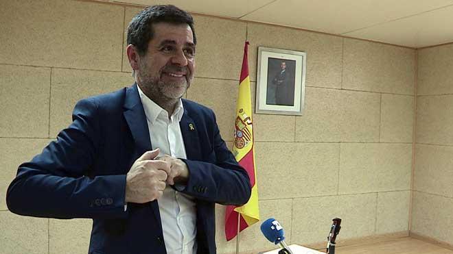 Jordi Sánchez ha ofrecido su primera rueda de prensa desde que entró en prisión hace 549 días.