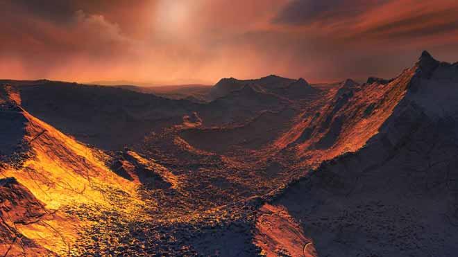 Simulación del superplaneta Estrella de Barnard B.