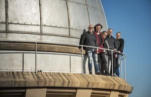 Sopa de Cabra: de izquierda a derecha, Francesc Cuco Lisicic, Gerard Quintana, Jaume Peck Soler, Josep Thió y Josep Bosch.