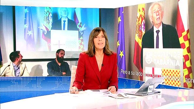 Apertura del Telediario (TVE-1) del martes.