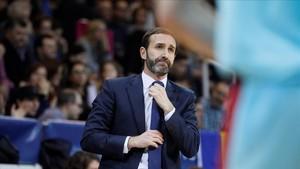 El técnico del Barça, Sito Alonso, el pasado domingo en el partido de Liga Endesa en Andorra