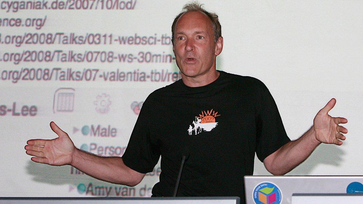 Tim Berners-Lee, durante una conferencia en Valencia en el 2008.