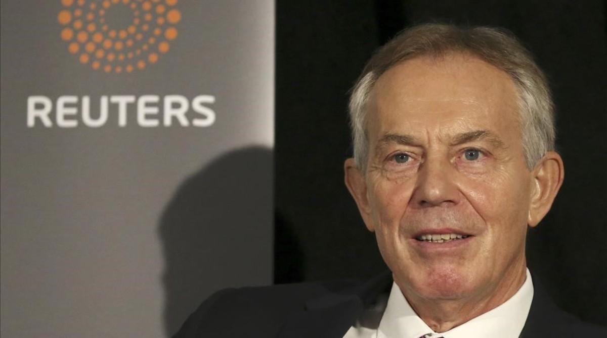 Tony Blair, en un encuentro organizado por Reuters, en Nueva York, este martes.