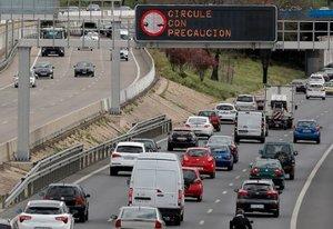Tráfico en la capital madrileña.