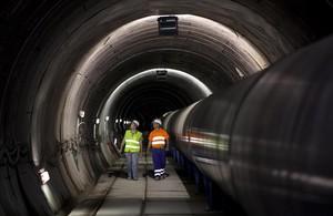 Tubería y túnel de interconexión de agua de Fontsanta Trinitat.