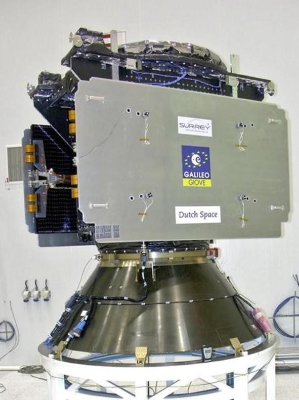Uno de los aparatos que componen el sistema Galileo de posicionamiento por satélite.