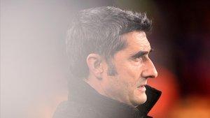 Valverde, durante el Barça-Levante de la vuelta de la Copa del Rey.