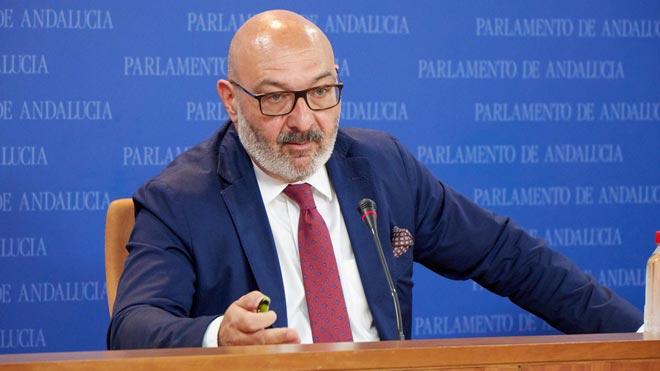 Declaraciones del portavoz parlamentario de Vox, Alejandro Hernández.