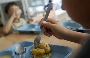 La hora del almuerzo, en una escuela de Barcelona.