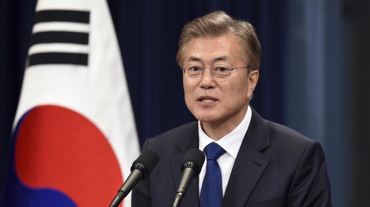 El nuevo presidente surcoreano Moon Jae-In.