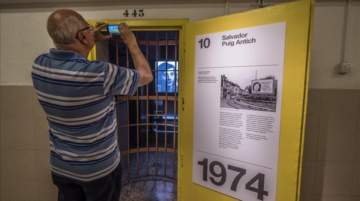 La celda 443, donde Puig Antich pasó sus últimos días, que se puede visitar hasta el 26 de noviembre.