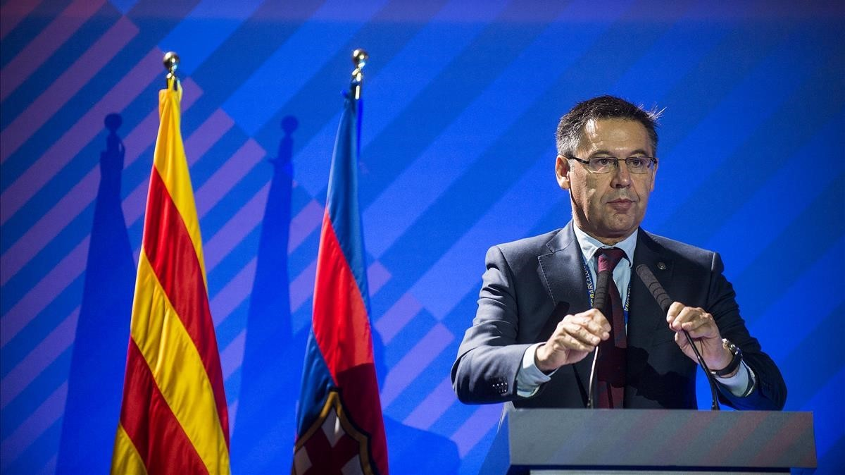 """Bartomeu demana que """"es respecti"""" el Barça i les institucions catalanes en la final de Copa"""