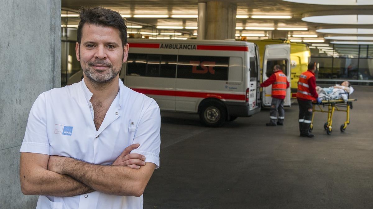 Bernat Rosselló, enfermero de urgencias del Hospital del Mar.