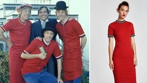 A la izquierda, Los Payasos de la Tele y, a la derecha, el vestido de Zara.