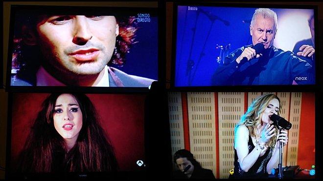 Fotos de la programación de madrugada del martes en distintos canales:Arcángel, Víctor Manuel, Berta Illán y Laura Durand.