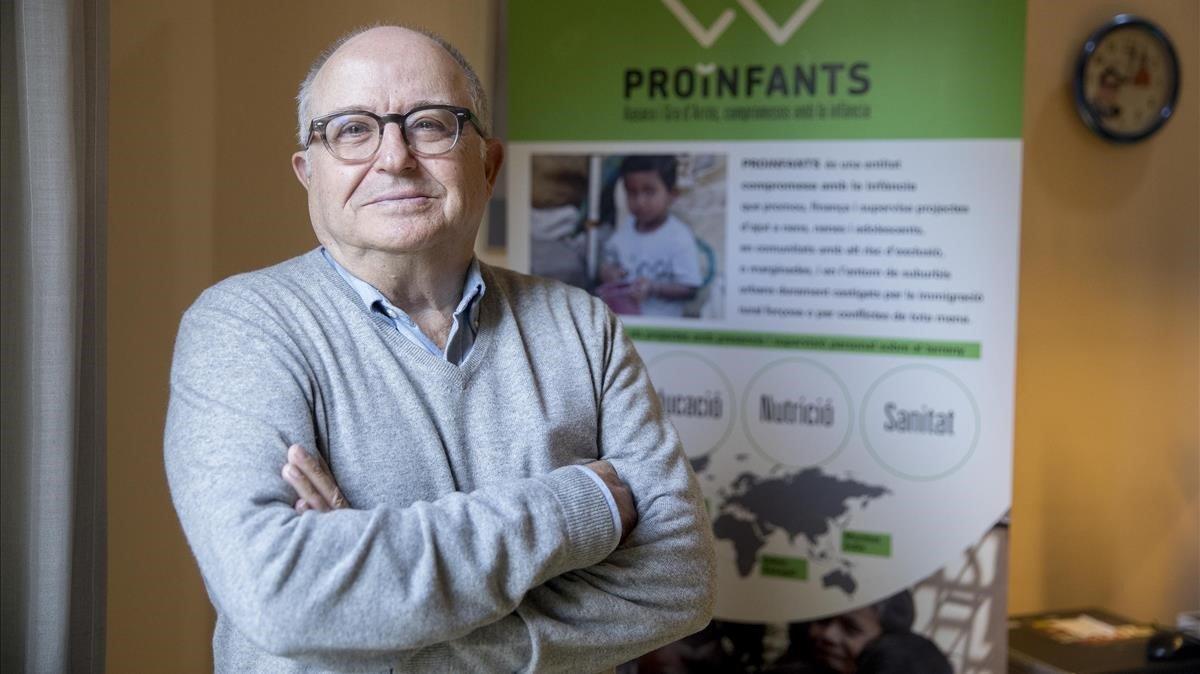 Joan Antoni Pons-Serés, tras una carrera profesional como economista, preside la oenegé Proinfants.